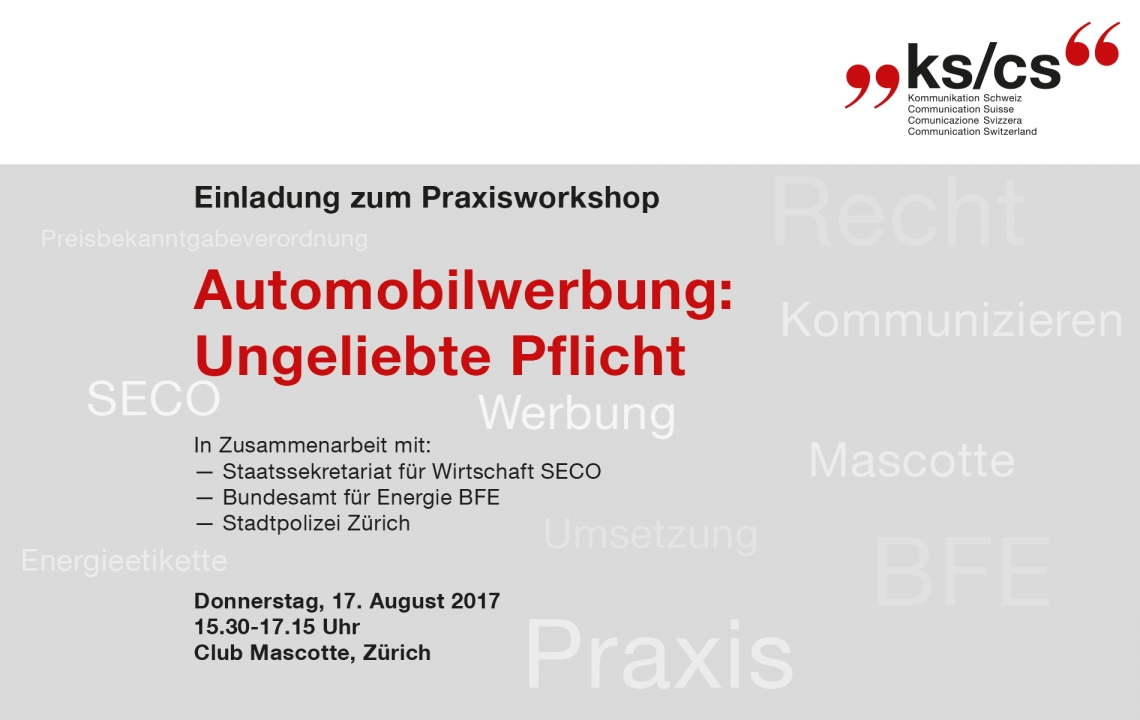 KS/CS Workshop PBV 17.08.2017